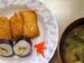 [ごはん]いなり寿司、ロール巻、豚汁