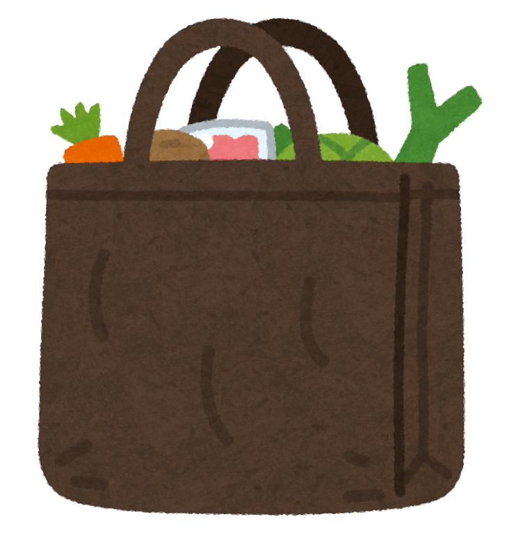 買い物バッグのイラスト