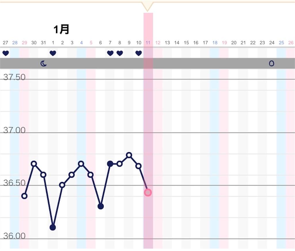 基礎体温 妊娠した時の高温期 ブログ