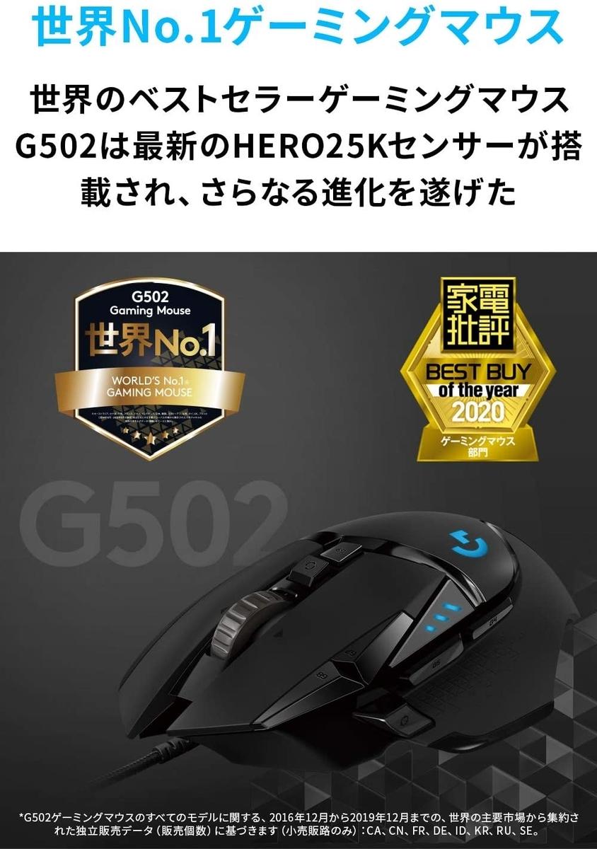 ロジクール G502 HERO Gaming Mouse 2