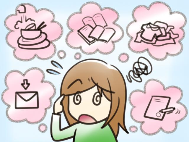 ADHD イラスト 思考の多動性