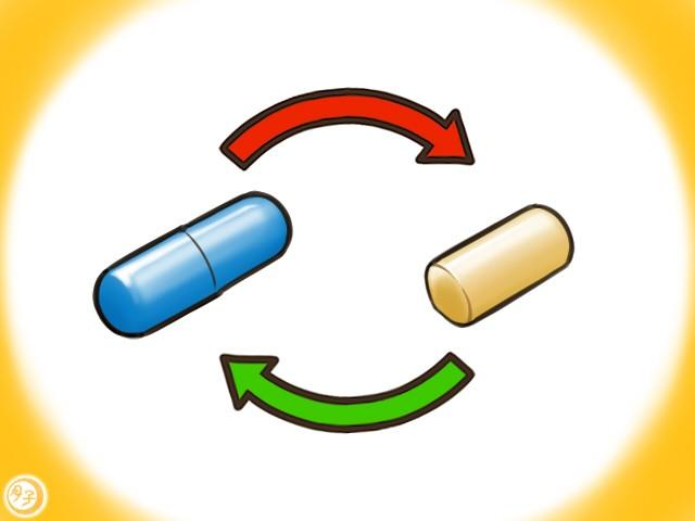 ADHD イラスト 薬の切り替え