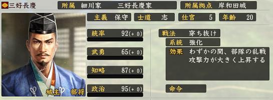信長の野望・創造 戦国立志伝の三好長慶