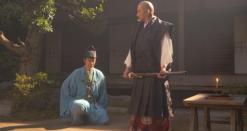 高政の家督相続は何を考えてのことか、斎藤道三に尋ねる明智十兵衛光秀
