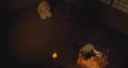 菊丸から渡された母・於大の方からの文を読む松平元康