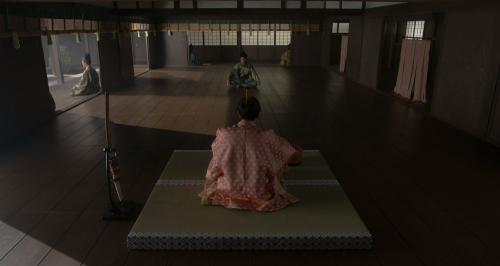 朝倉義景に京へ出立する報告をする明智十兵衛光秀