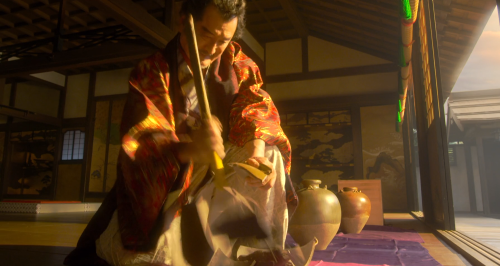 茶器を鑑定する松永久秀