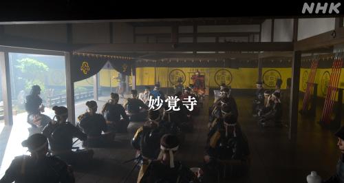 妙覚寺にて出陣の儀式をおこなう織田信長