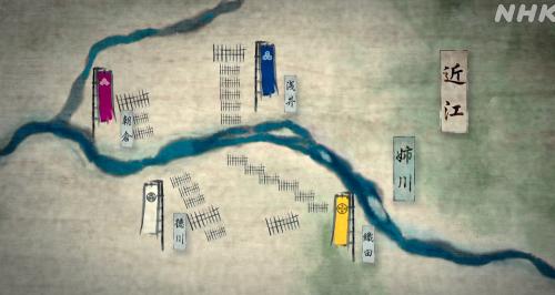近江の浅井長政を助けるため朝倉勢も出陣、姉川の戦いが始まる