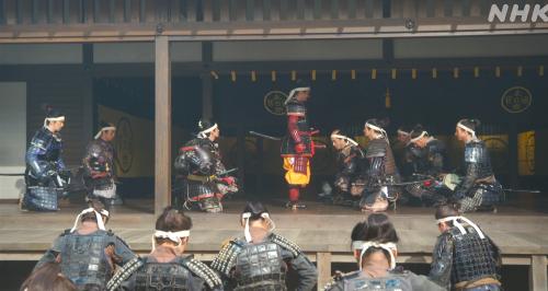 姉川の戦いでの大勝利を喜ぶ佐久間信盛ら家臣一同