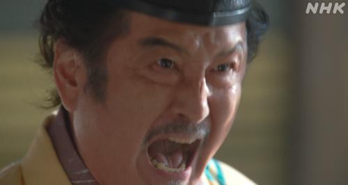 筒井順慶も同席していることに怒り心頭の松永久秀