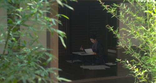 坂本城の図面と睨めっこな十兵衛