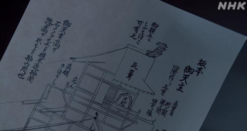 坂本城の天守には鯱が