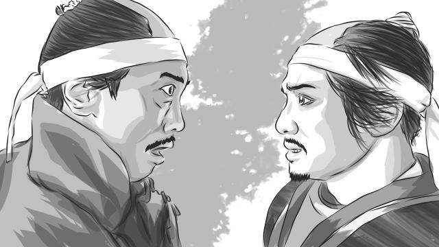 加賀出陣の際、柴田勝家と口論を起こした上、陣を勝手に離れてしまった羽柴秀吉