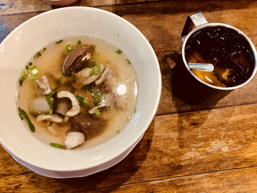 カモの内臓スープ