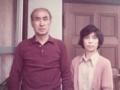 昭和48年 父母 玄関前で