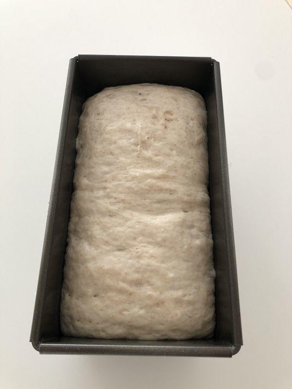 食パン2次発酵中の画像