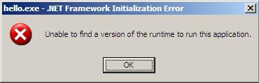 .NetFramework 4 のみがインストールされている環境で実行した結果
