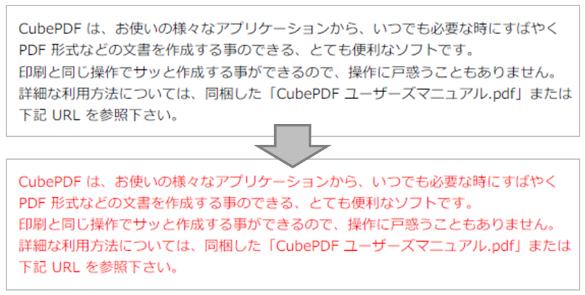 変換された PDF の色がおかしくなる現象について