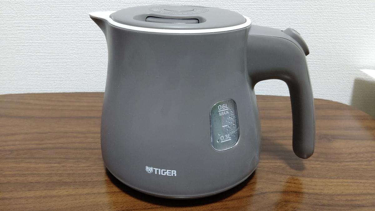 タイガー 電気ケトル 0.6L アッシュグレーTIGER PCM-A060-HA