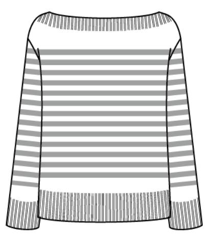 セーターのデザイン画