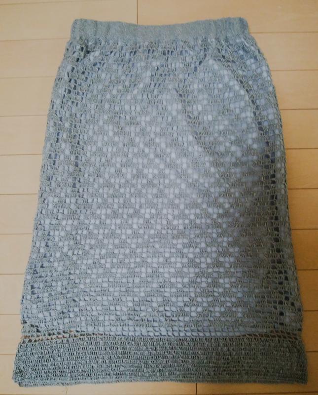 方眼編みのスカートの画像、全体