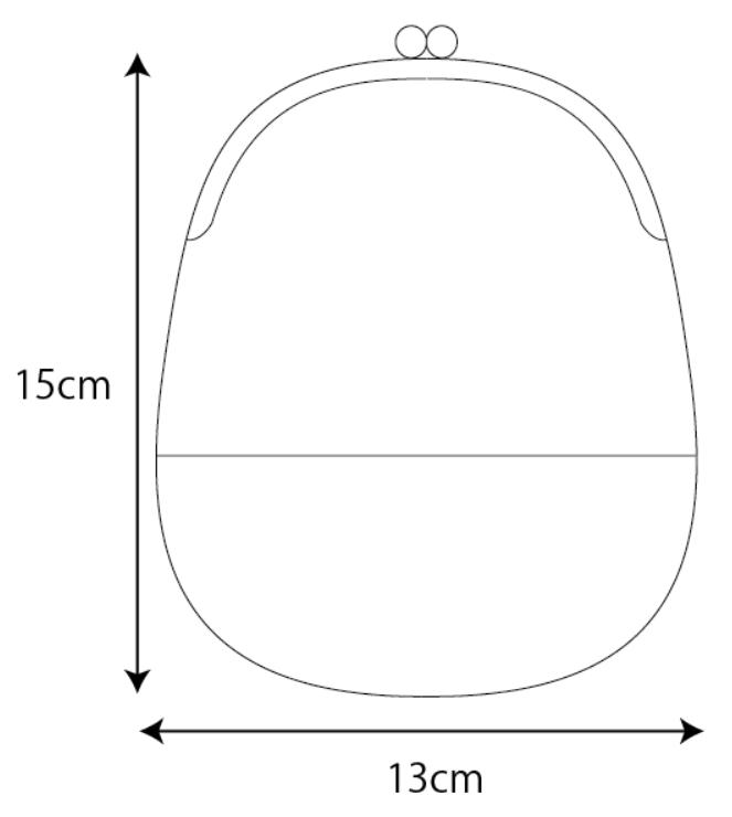 ポーチのサイズ