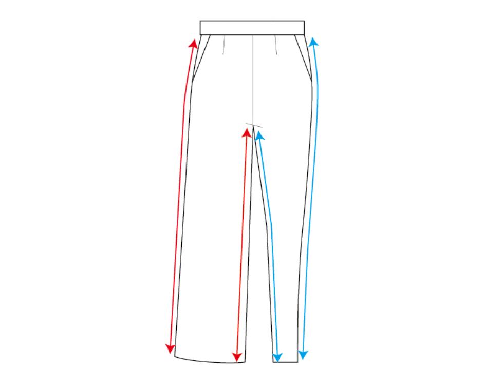 パンツもシルエットによって長さが違ってくる