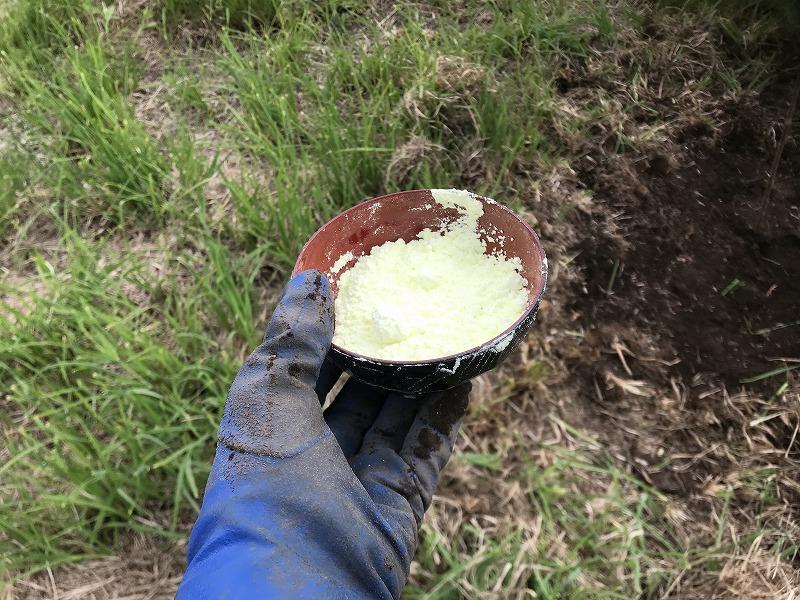 硫黄の粉の画像