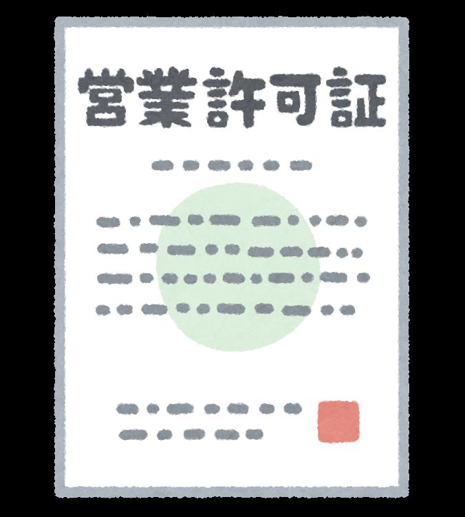 許可書の画像