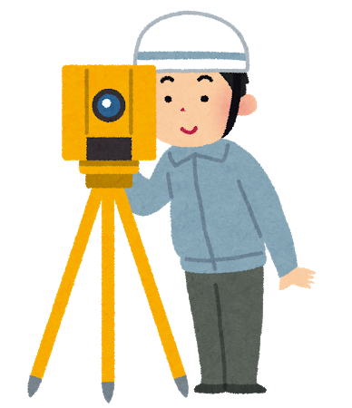 測量する人の画像