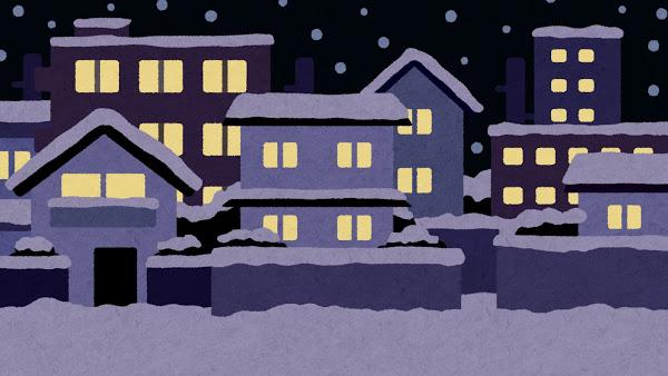 冬の住宅の画像