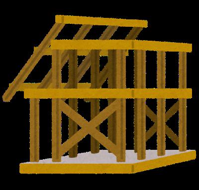 建築中の建物の画像