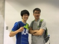 顧問の田中先生と宮崎くん