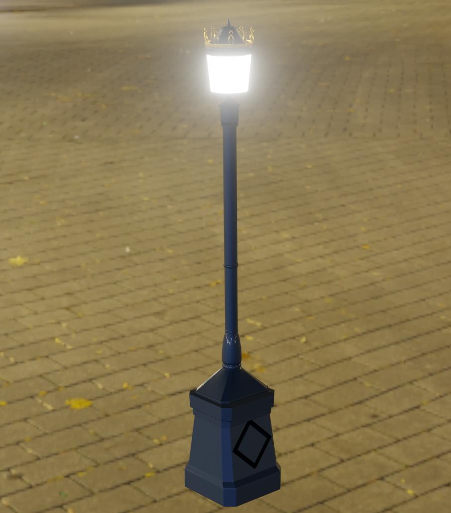 Blenderで作成した街灯
