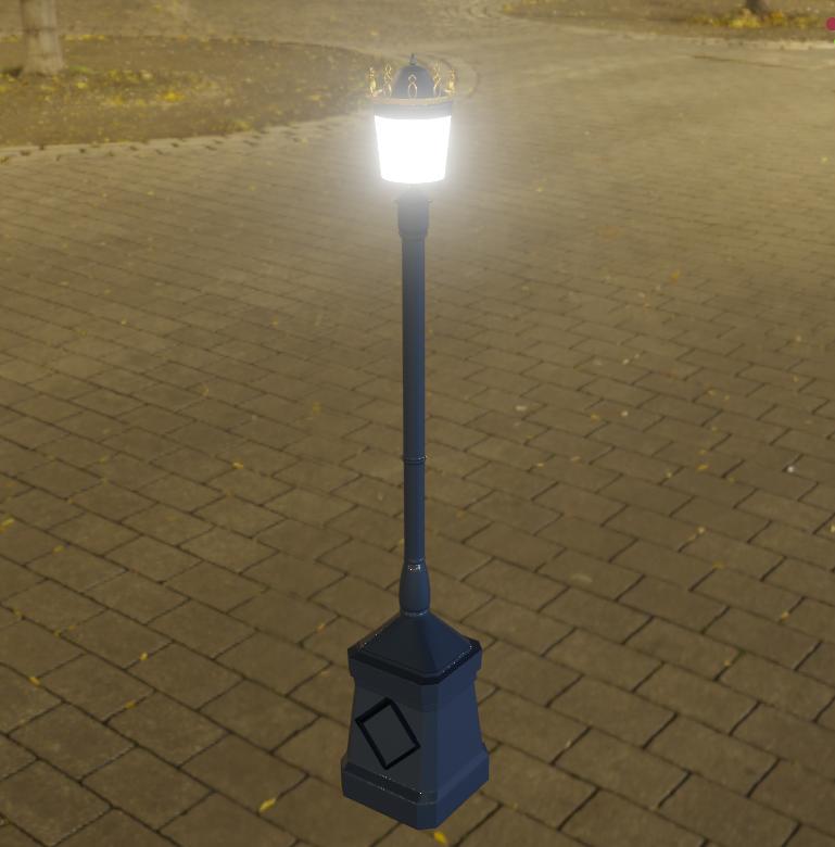 Blenderでの街灯モデル
