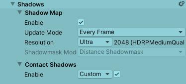 Shadowの設定項目