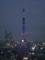 ドラえもんの鈴を付けられた東京タワー