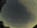 夏の大三角を横切るISS(国際宇宙ステーション) PENTAX Q+03Fisheye