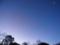 夜と朝が同居した空の下弦の月 2014/12/15 6:22撮影