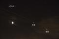 月と木星と金星とISS(国際宇宙ステーション) 2015/6/21 SONY α55