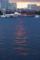 海に描かれた夕日の道  横浜港大さん橋から