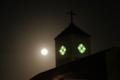 晩秋の満月に照らしだされたサレジオ教会・鐘楼塔 2015/10/27