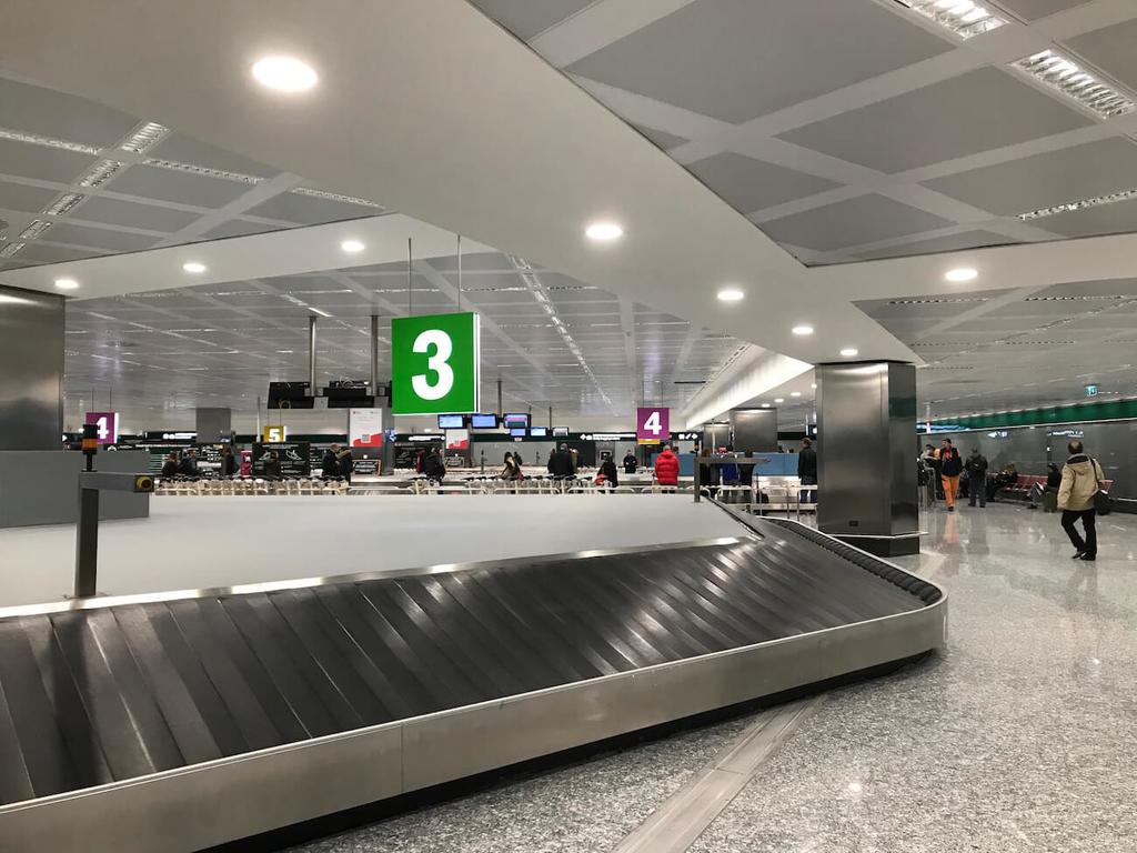 マルペンサ空港の荷物受け取り場所