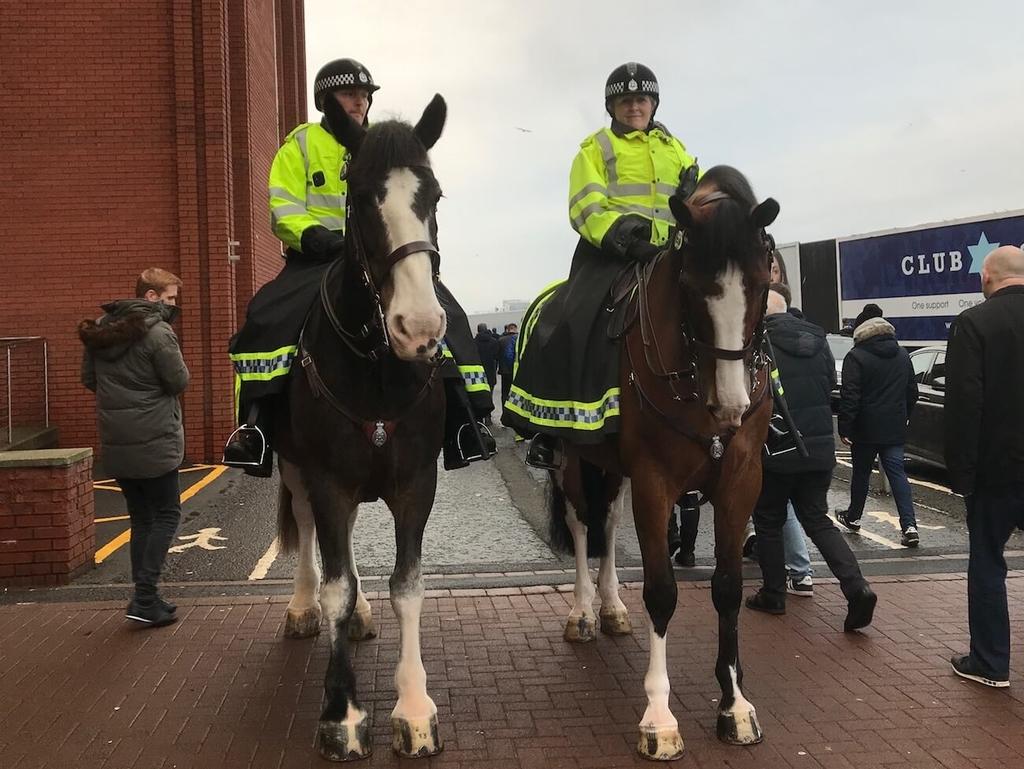立派な馬にのった警備隊