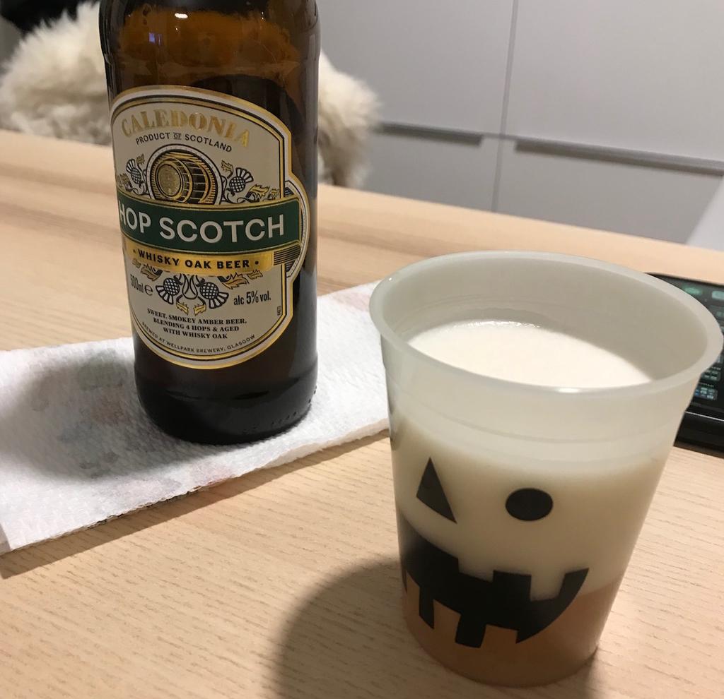 遠藤キャッスルにて瓶ビールで晩酌