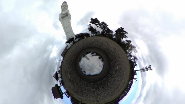 360flyで撮影した会津慈母大観音