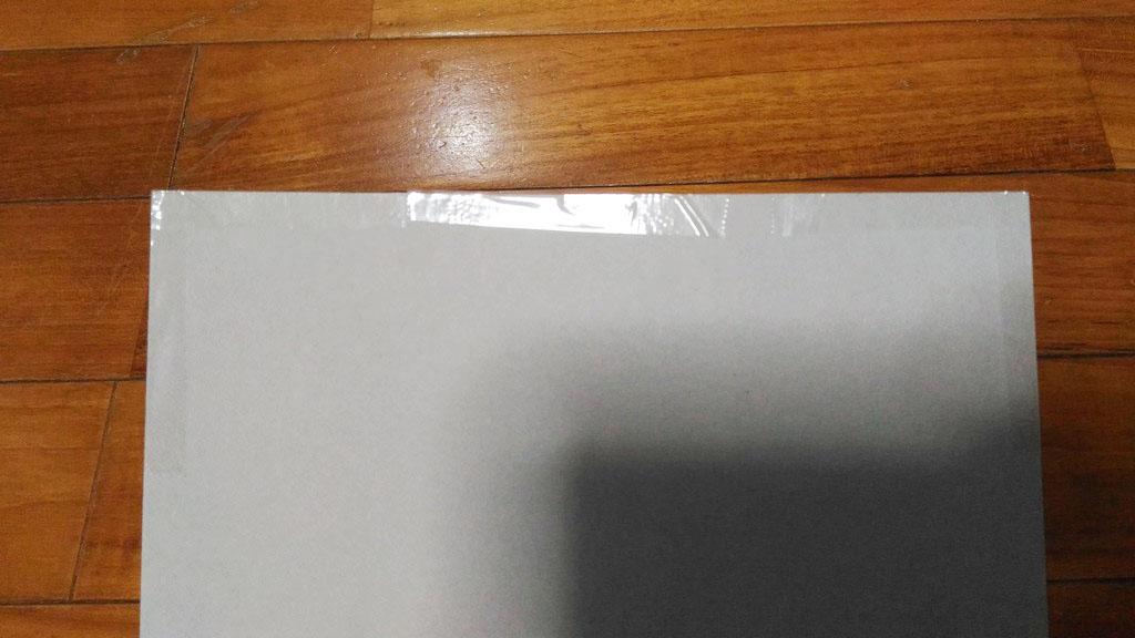 厚紙に貼りつける
