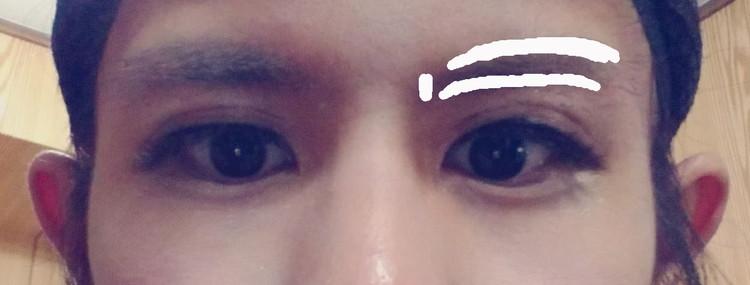 眉毛を抜く位置
