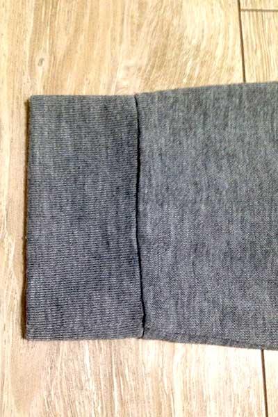 毛玉取り使用後のカーディガンの裾